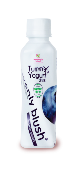 Heavenly Blush Tummy Yogurt Drink Blueberry Redbeet