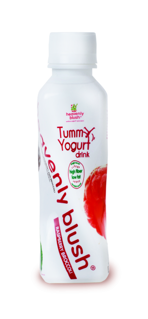 Heavenly Blush Tummy Yogurt Drink Rasberry Broccoli