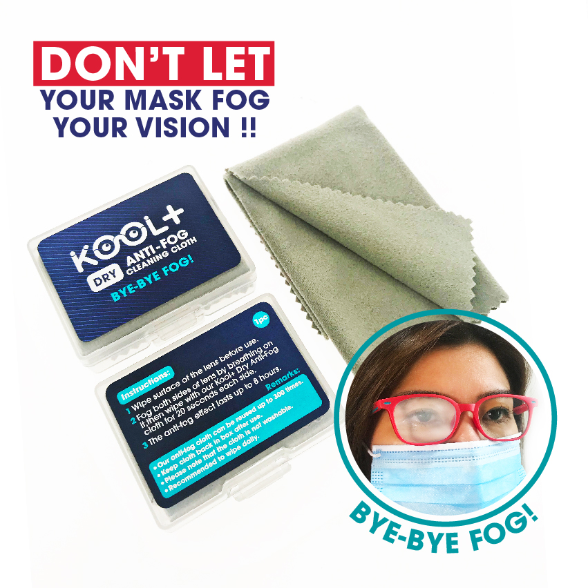 Kool+ Anti Fog Dry Cleaning Cloth