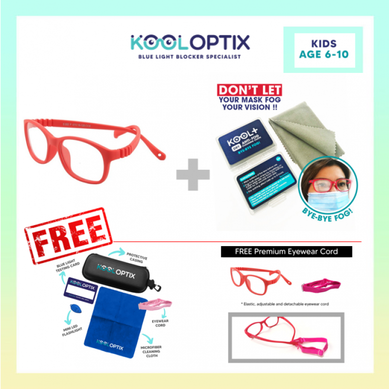 Bundle Kids Flexi - Hot Red + Anti FOg