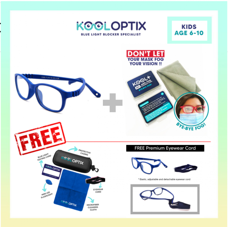 BUNDLE Kids Flexi - Cold Blue + Anti Fog