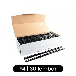 Joyko Spiral Plastik RPC-23-10 F4 23 Lubang (10 mm) - Hitam - Toko Online Mesin Jilid, Laminating, Pemotong kertas