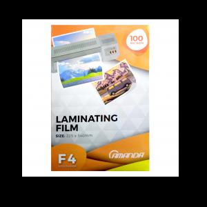 Amanda Plastik Laminating Folio F4 100 Micron - Toko Online Mesin Jilid, Laminating, Pemotong kertas
