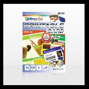 Kertas PVC Bahan ID Card Instan A4 isi 5 Lembar Merk Blueprint - Toko Online Mesin Jilid, Laminating, Pemotong kertas