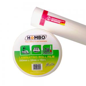 Hombo Plastik Laminating Roll Matte 330mm x 32mic x 150m - Toko Online Mesin Jilid, Laminating, Pemotong kertas