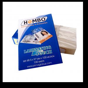 Hombo Plastik Laminating KTP - 100 Micron - Toko Online Mesin Jilid, Laminating, Pemotong kertas