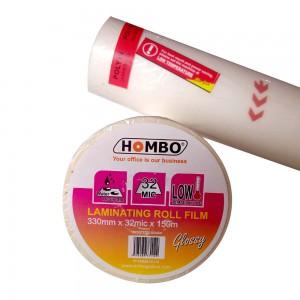 Hombo Plastik Laminating Roll Glossy 330mm x 32mic x 150m - Toko Online Mesin Jilid, Laminating, Pemotong kertas