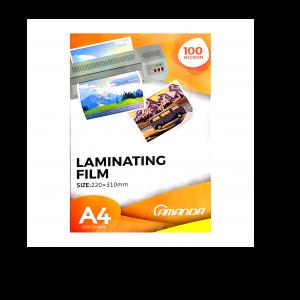 Amanda Plastik Laminating A4 - 100 Micron - Toko Online Mesin Jilid, Laminating, Pemotong kertas