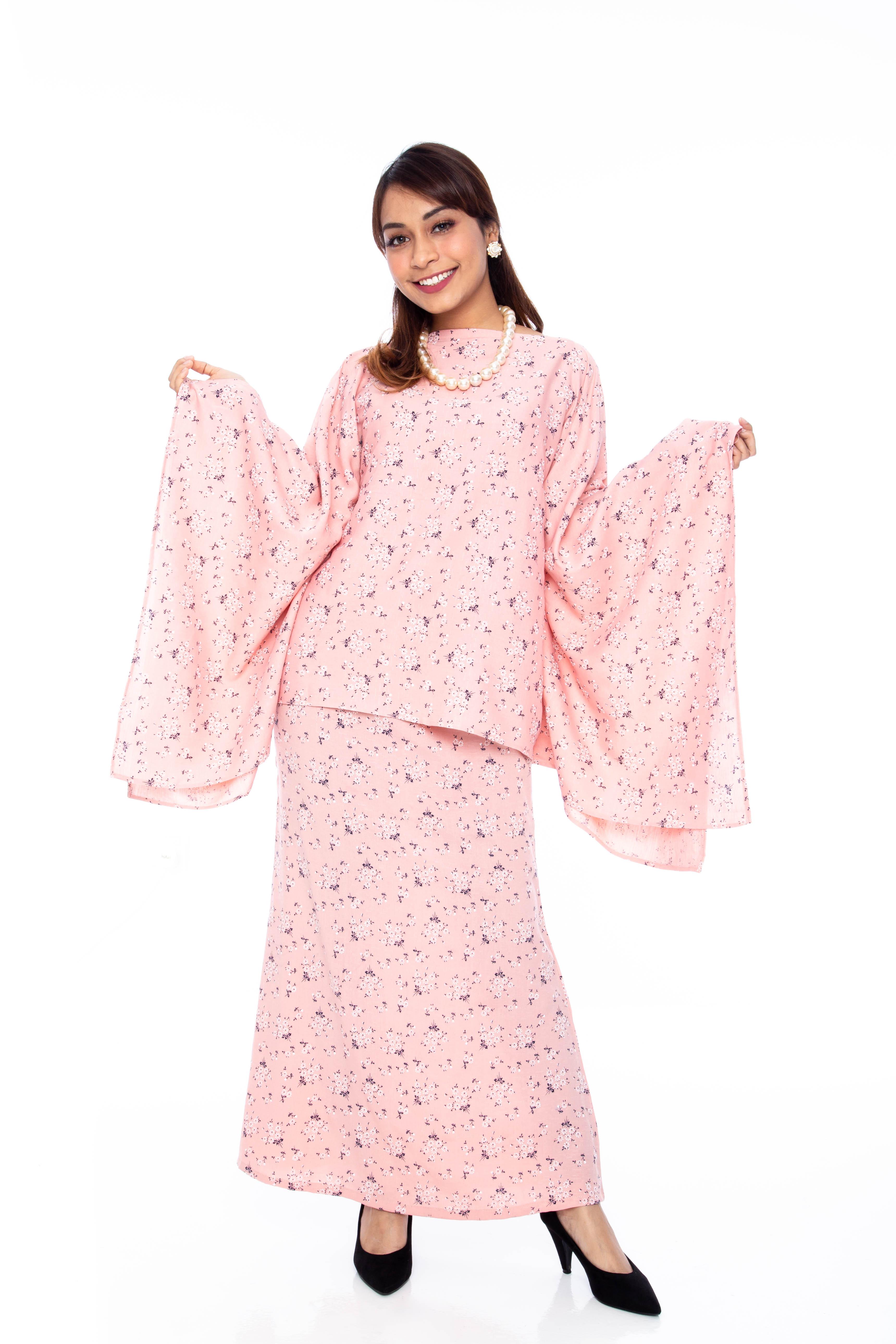 Baby Pink Jasmine Kurung