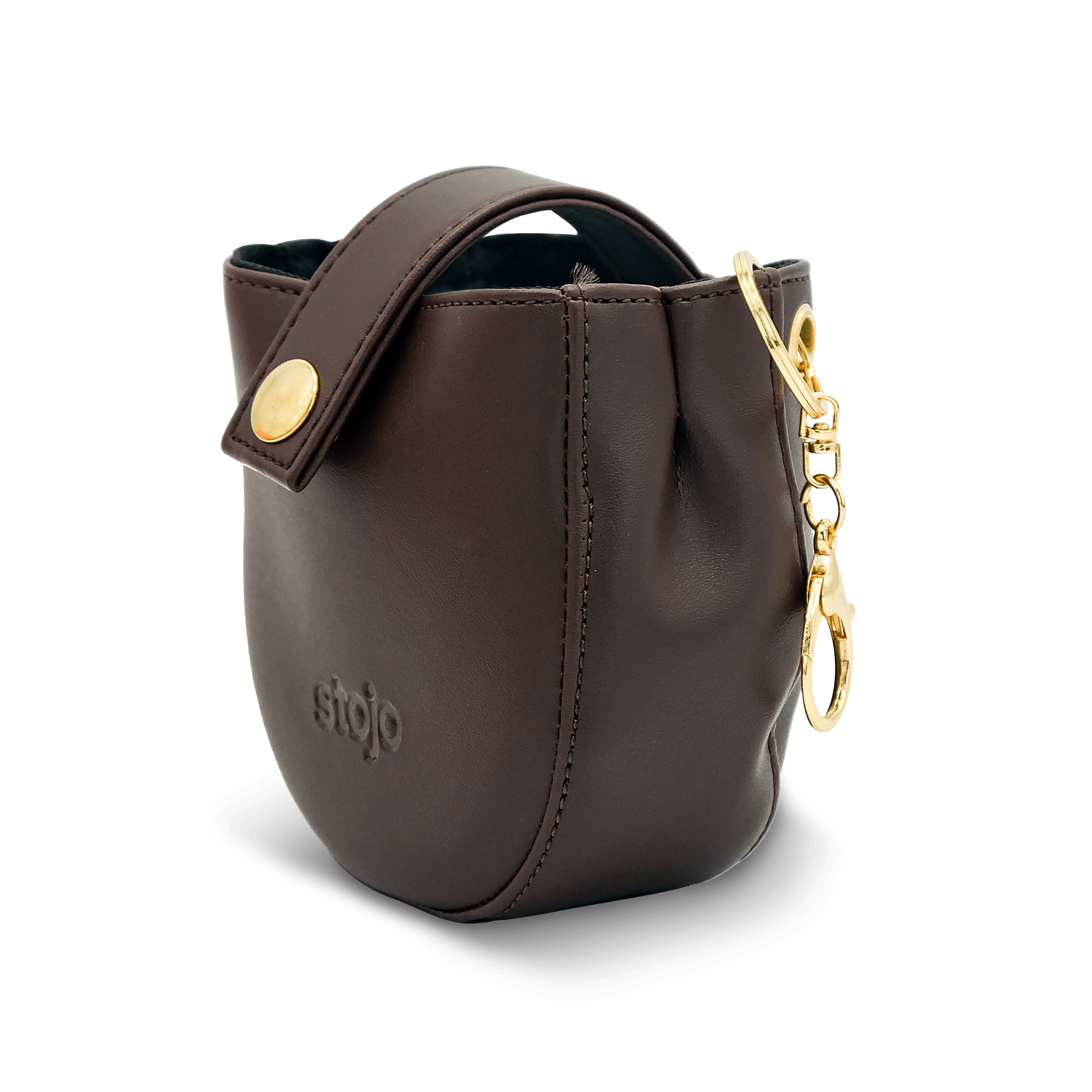 Stojo Compact Pouch - Leather Brown