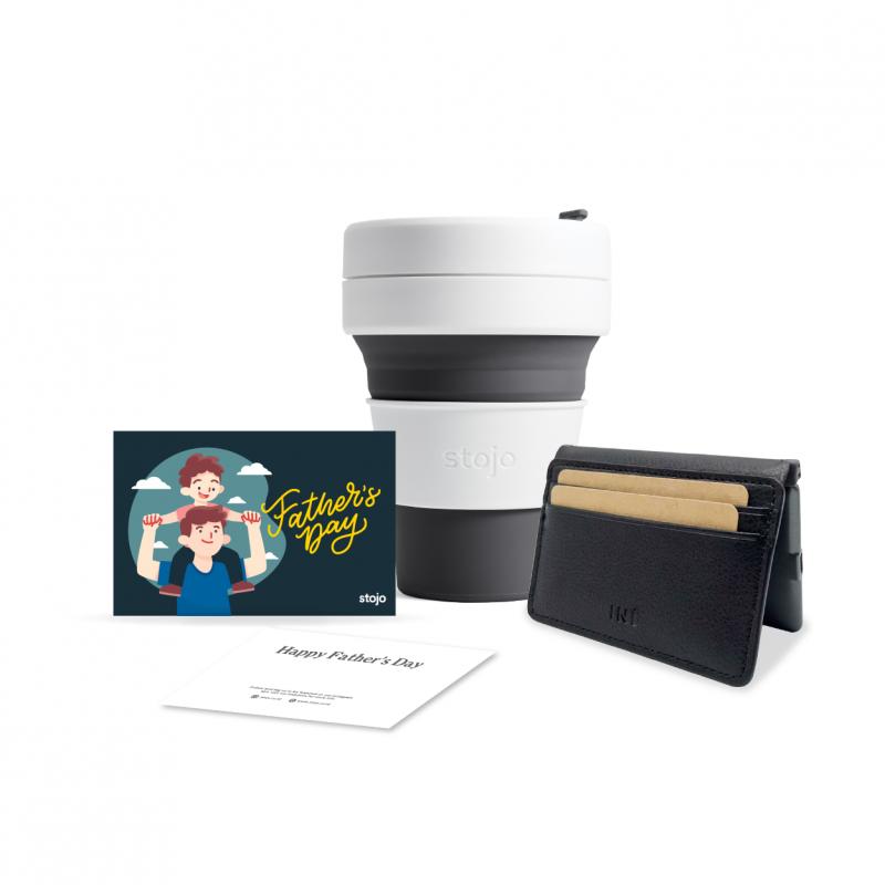 [Hero Dad]Slate12oz + Wallet w/ a built in Power Bank + Gift Card