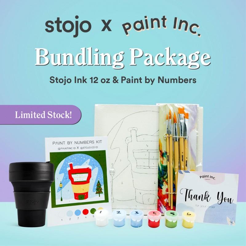 [Stojo X Paint Inc.] Stojo Ink 12oz + 1 Set of Paint By Numbers