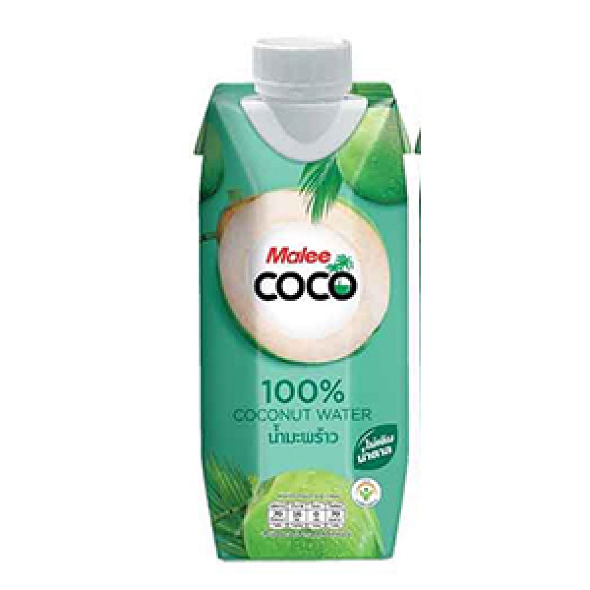 (MALEE COCO) 100% COCONUT WATER 330ML - Kanpeki