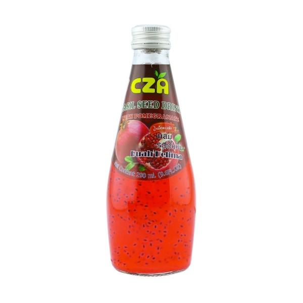 BASIL SEED DRINK - POMEGRANATE 290ML - Kanpeki