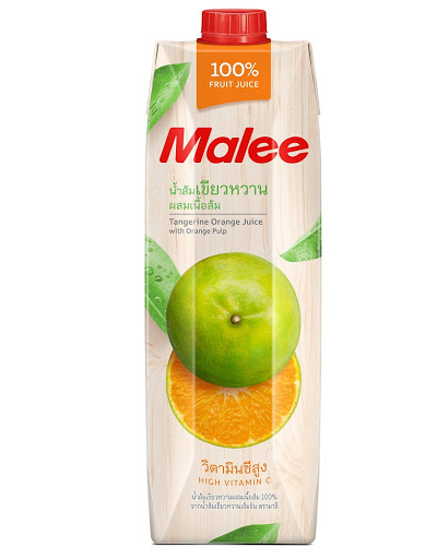 (MALEE) F.JUICE (TANGERINE ORANGE JUICE WITH ORANGE PULP) 1L - Kanpeki