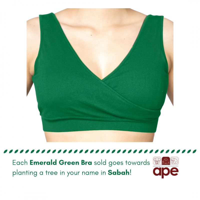 Real-Support Bra (Emerald Green)