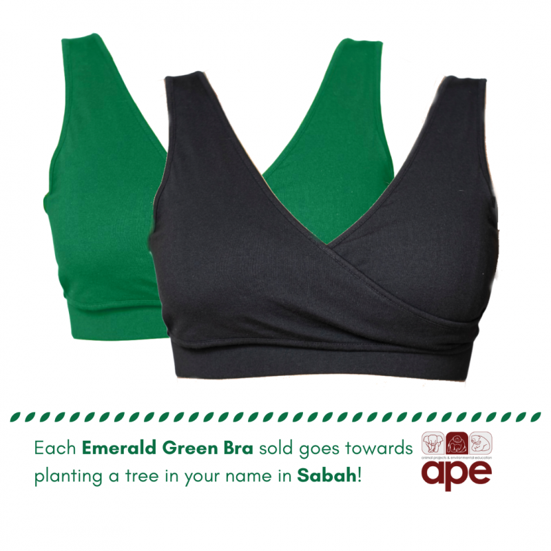 Real-Support Bra Emerald Green-Black Duo