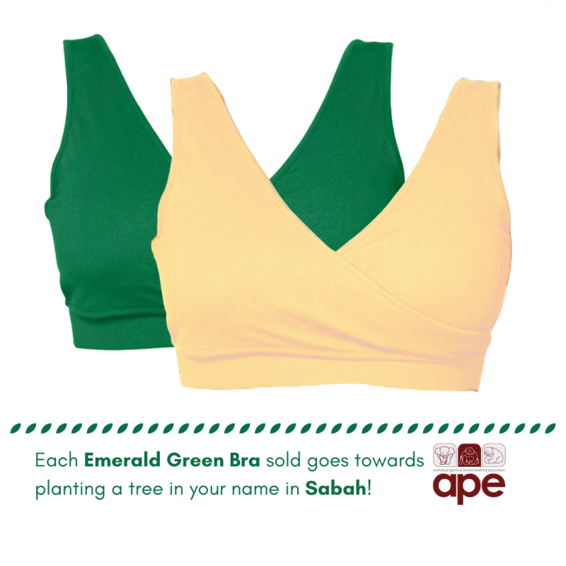 Real-Support Bra Emerald Green-Nude Duo