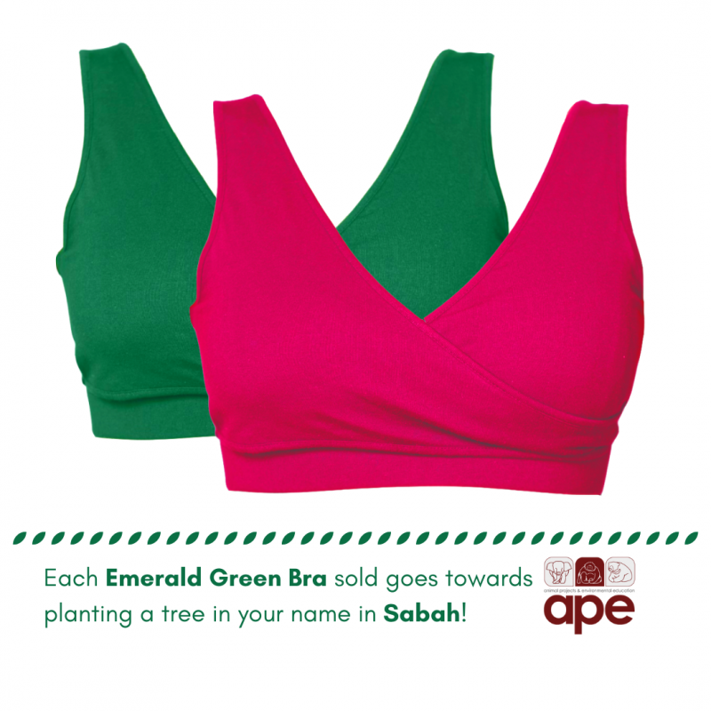 Real-Support Bra Emerald Green-Pink Duo