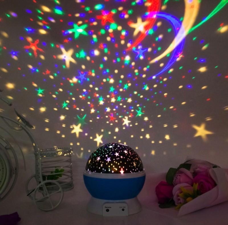 Lampu tidur proyektor Bulat 1027a motif bulan bintang Dream
