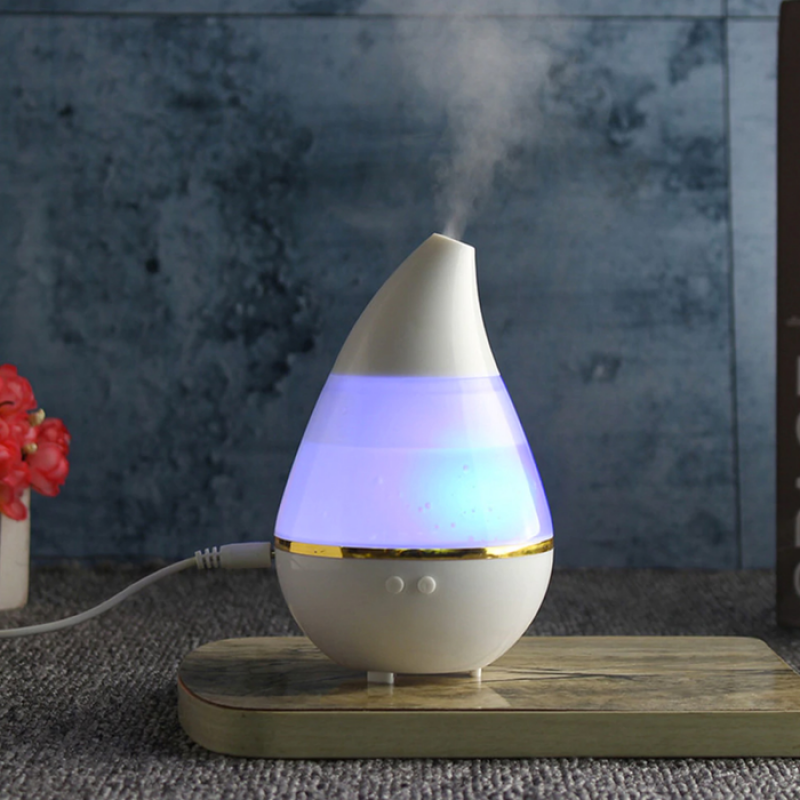 Water Drop Ultrasonic Humidifier Diffuser 7 Color LED