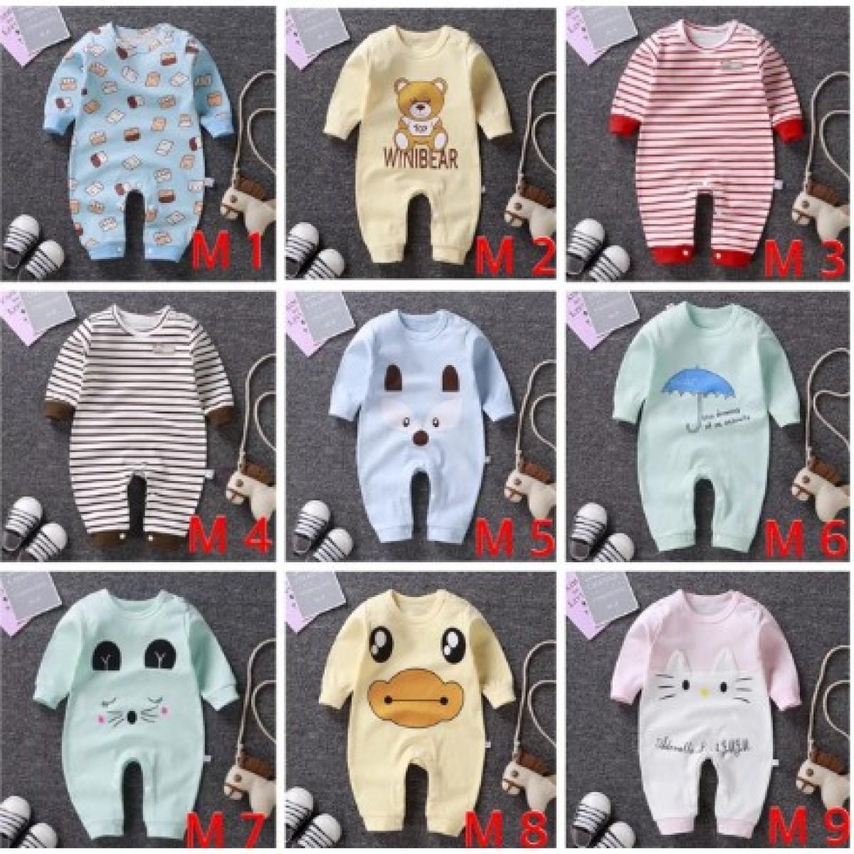 m1-9 Jumper Bayi 0-18 bulan / Baju Kodok Bayi - Bunda Ina Shop