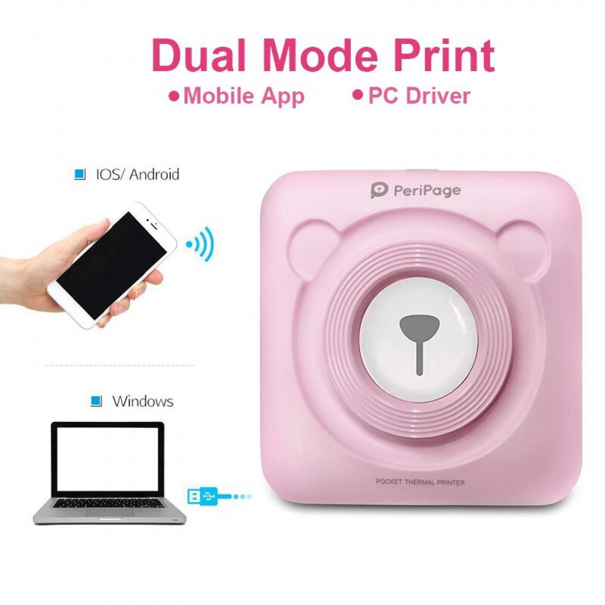 Peripage A6 Bluetooth 203 dpi Mini Pocket Thermal - Bunda Ina Shop
