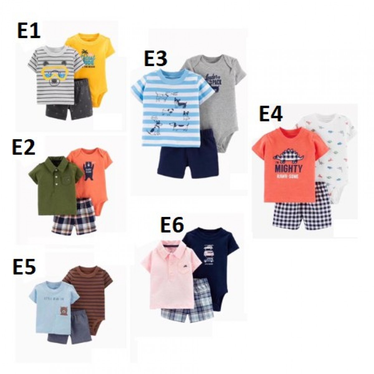 3in1romper set anak laki-laki / baju anak laki-laki /setelan - Bunda Ina Shop