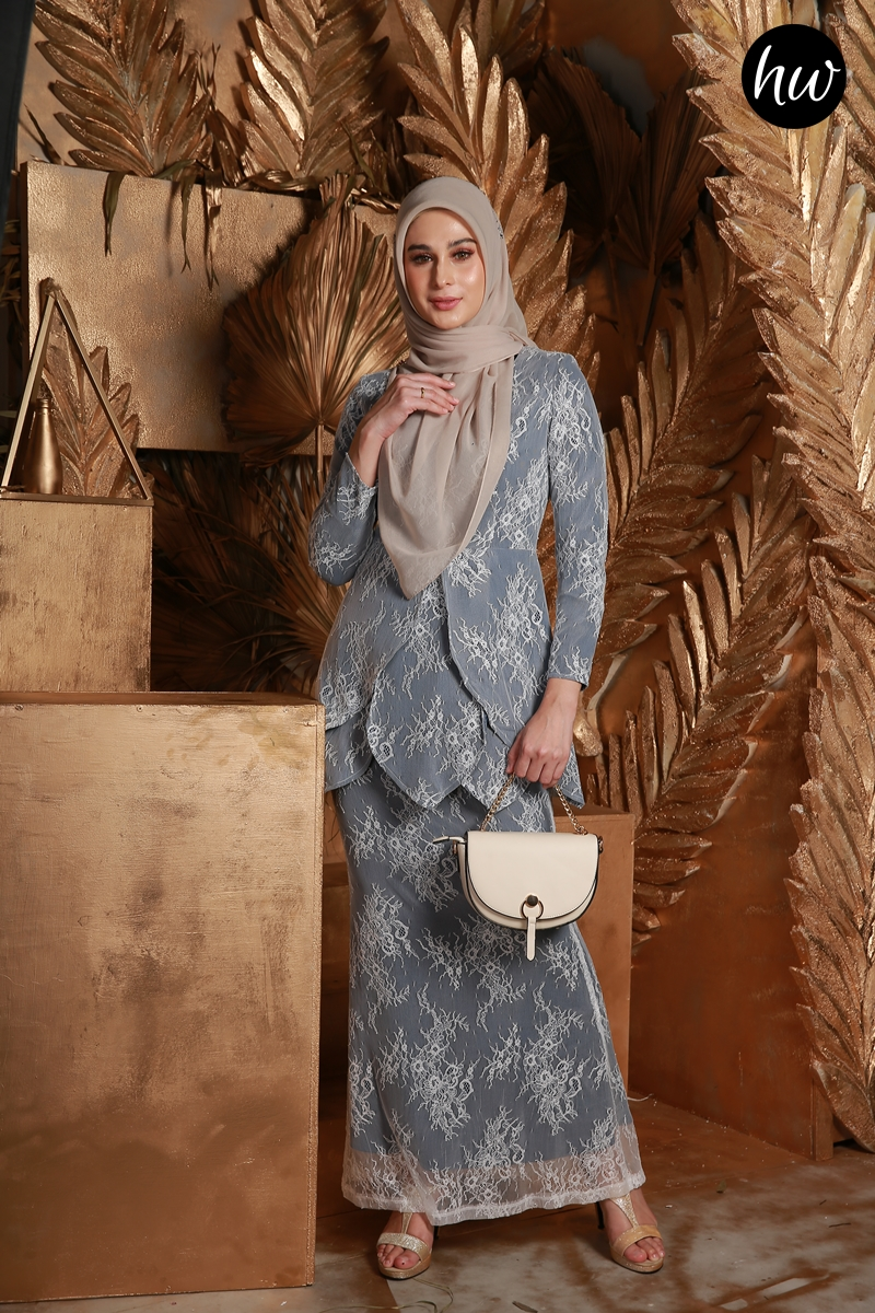 KURUNG MAYSA IN DARK BLUE
