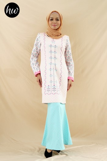 OPHILIA KURUNG IN PINK&MINT