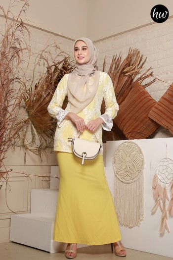 KURUNG NAYLA IN LEMON YELLOW