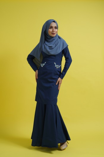 BAJU RAYA 2020 KURUNG KAREENA IN DARK BLUE