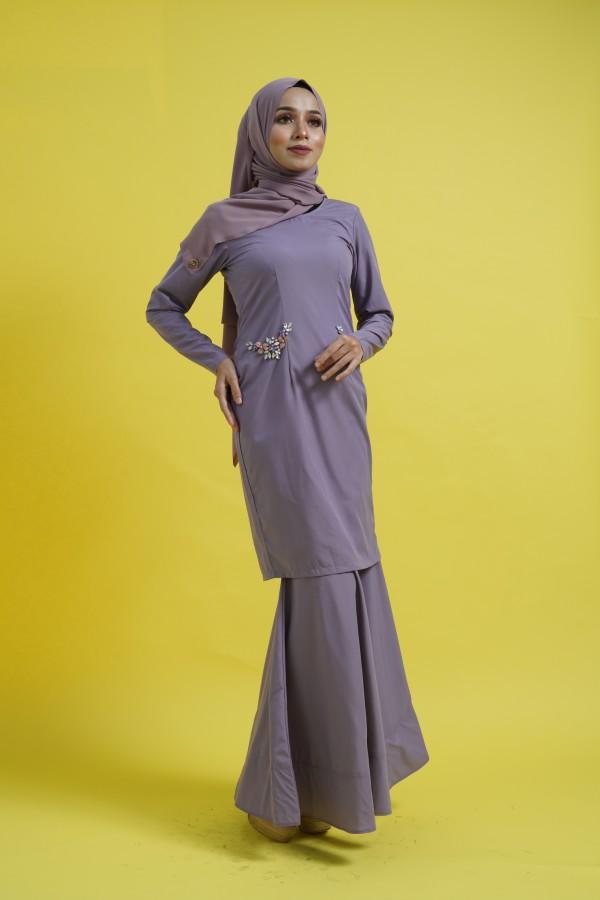 Kurung Dusty Lavender - Haura Wear