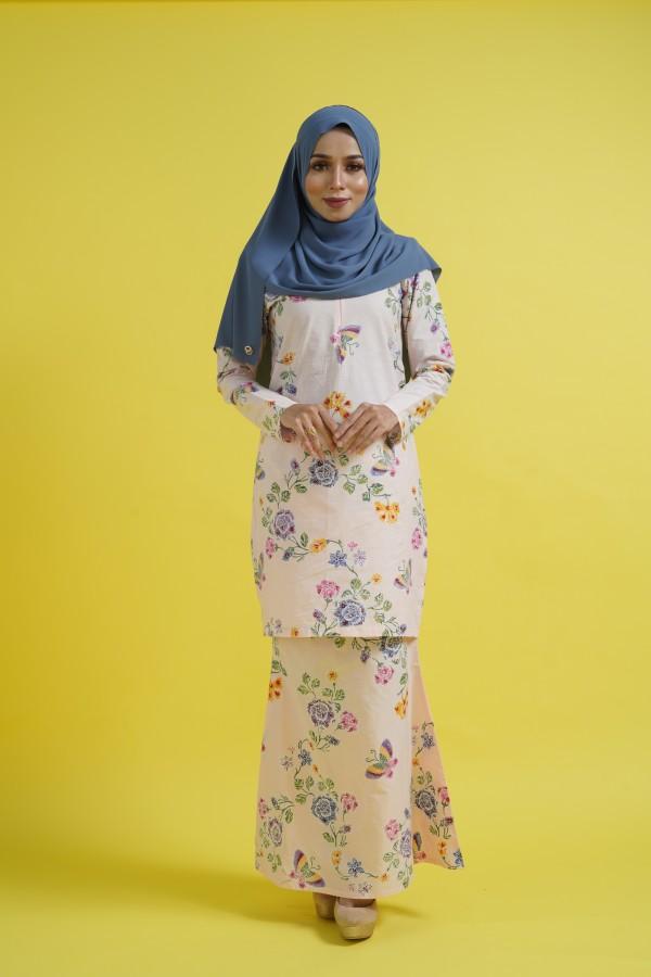 Jasmine Kurung (Peach) - Haura Wear