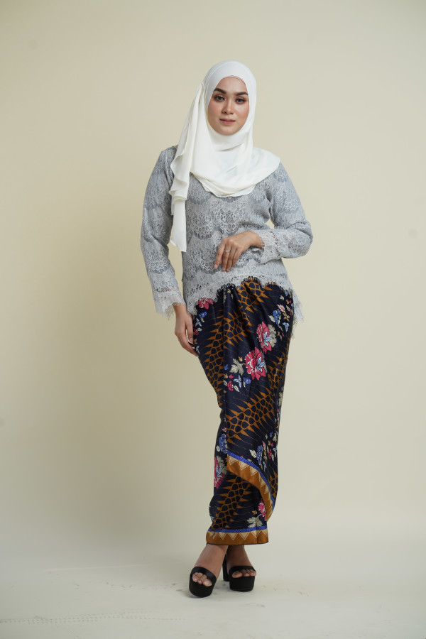 Fishtail Lace Grey (Tops Only) - Haura Wear