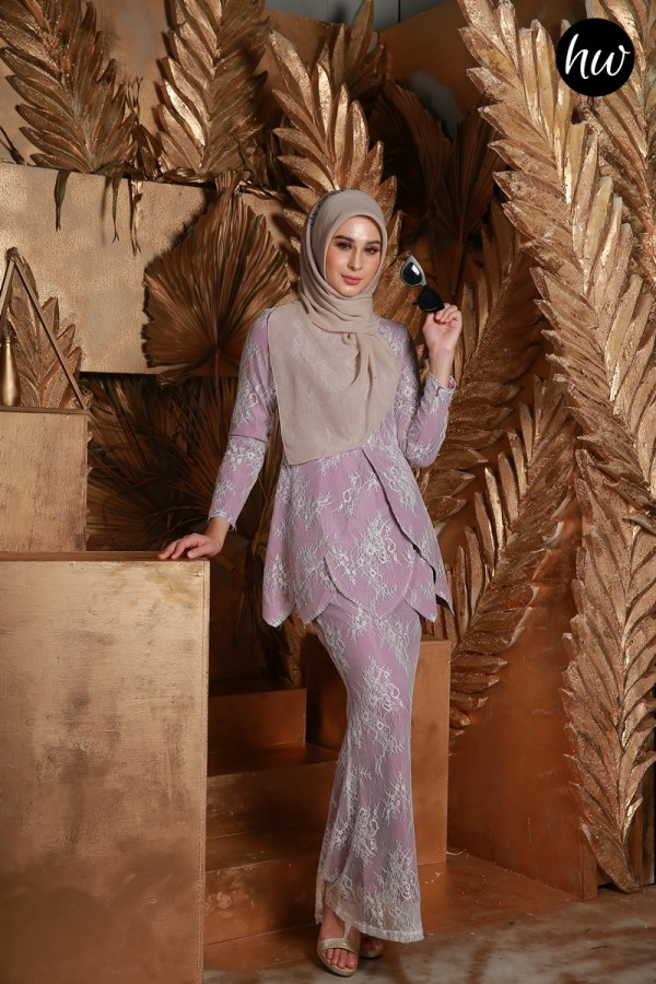 BAJU RAYA 2020 KURUNG MAYSA IN PURPLE - Haura Wear