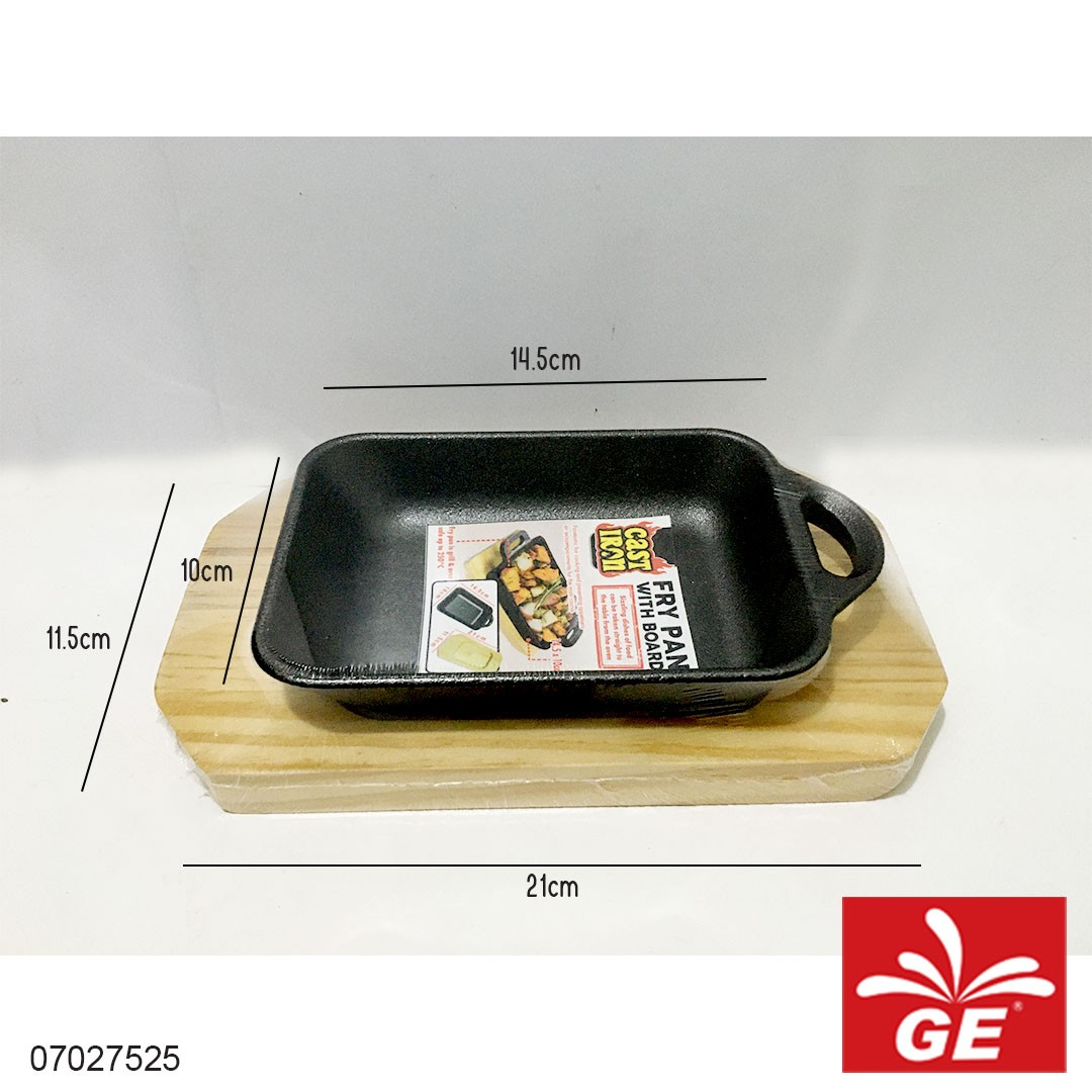 Fry Pan With Board CAST IRON 14,5 x 10 cm 07027525