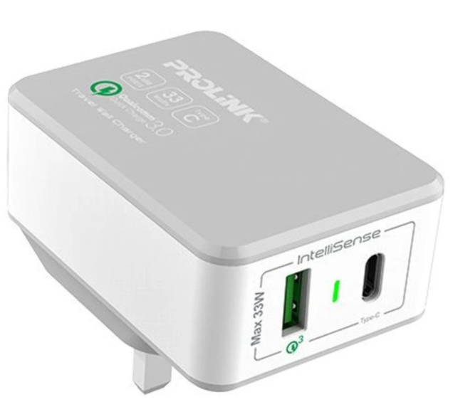 Adaptor PROLINK  PTC23301 2 Ports Travel Wall Charger