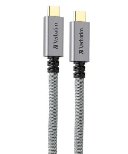 Kabel Data VERBATIM 65684 Type-C to Type-C 1M Abu-abu 09009183