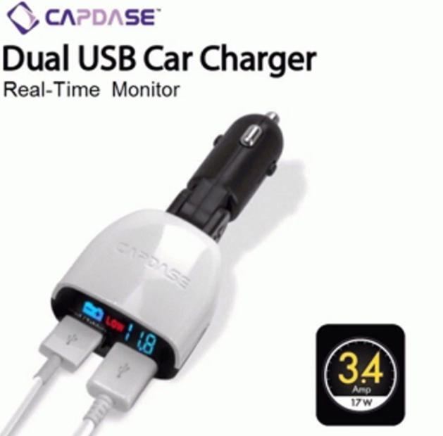 Charger CAPDASE Monitor T2 2in1 Lightning+Micro USB Abu-abu