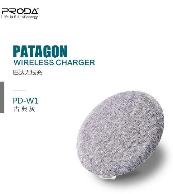 Charger REMAX PRODA PD-W1 Patagon Wireless Abu-abu 40001048