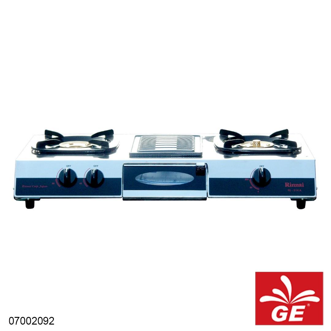 Komopr Gas RINNAI RI-514A 2 Tungku 07002092