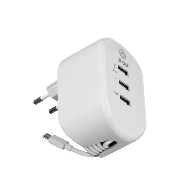 Adaptor UNEED UCH110 Wall Charger With Extension Cable  Putih