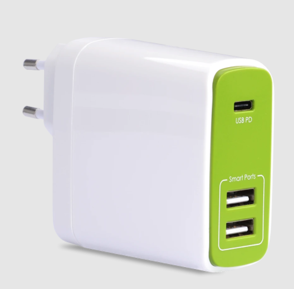 Adaptor AVANTREE TR604P 50W Type-C & USB Wall Charger Putih