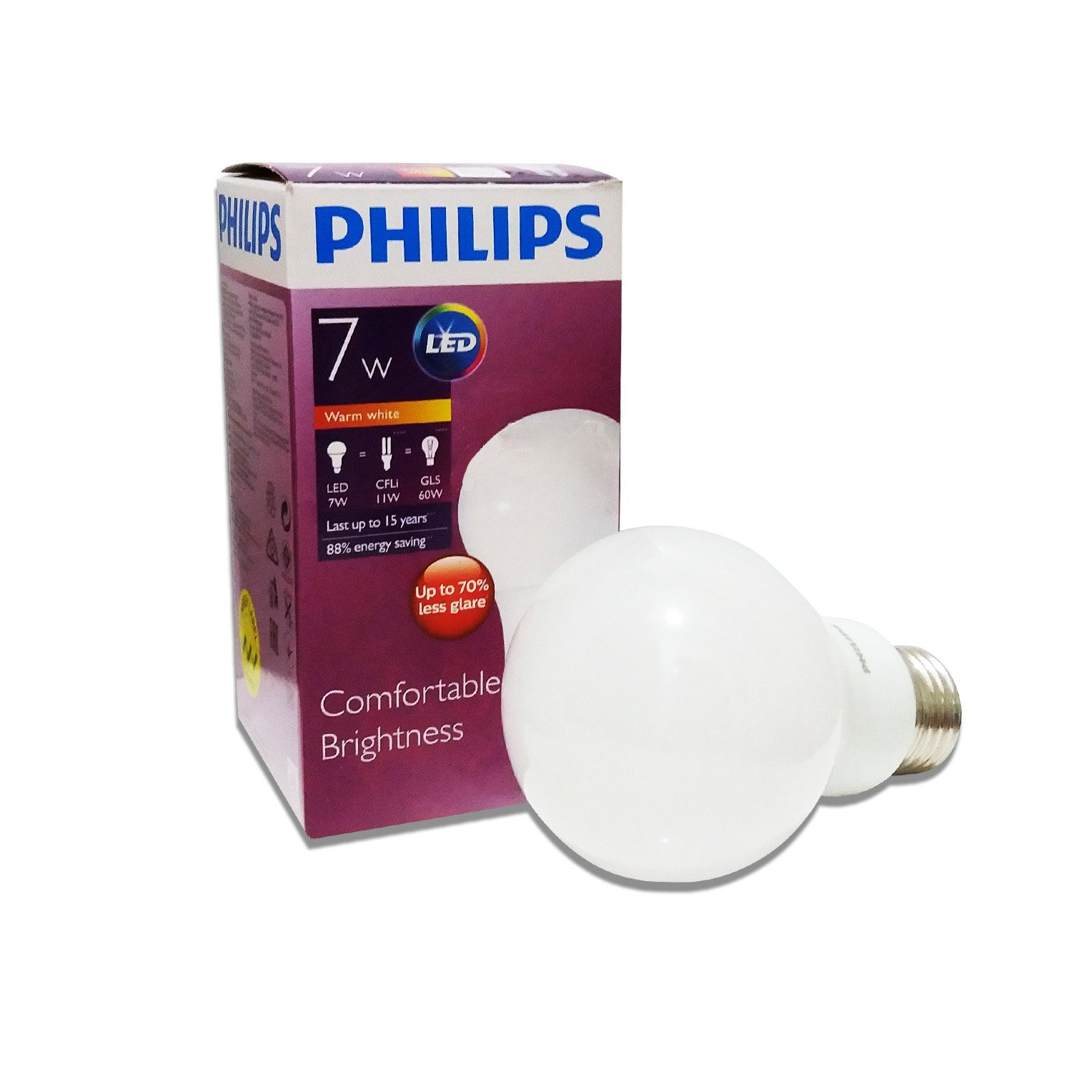 Lampu Bohlam PHILIPS Bulb Warm White 7.5W 02017882