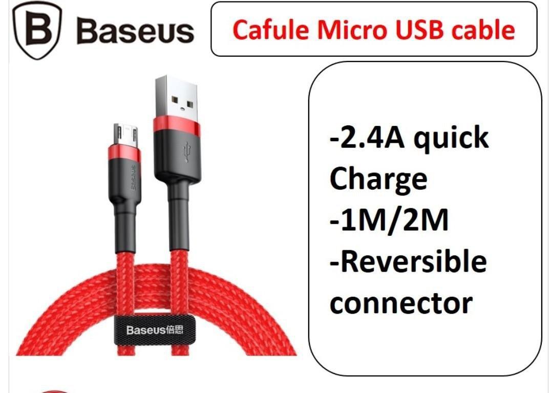Kabel Data BASEUS Cafule Micro 2M Merah 40001310