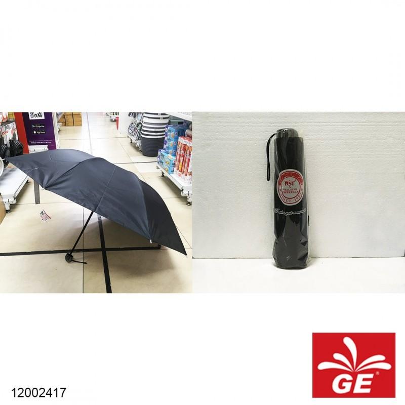 Payung Lipat Hitam Polos 86cm 12002417