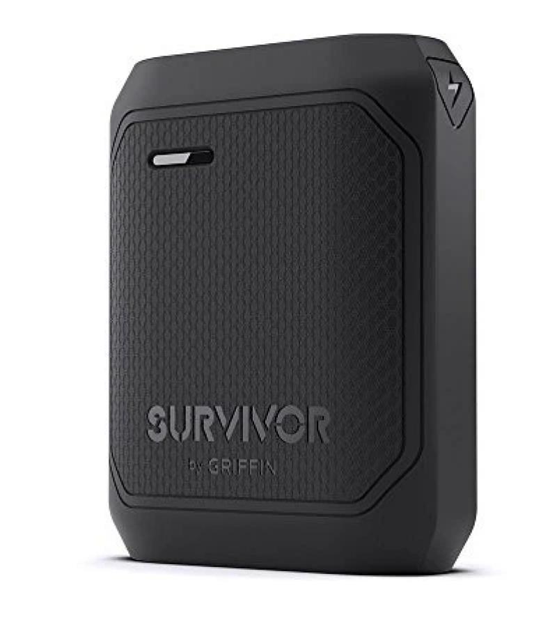 Powerbank Griffin 10200 Mah Survivor Portable Battery Pack Black