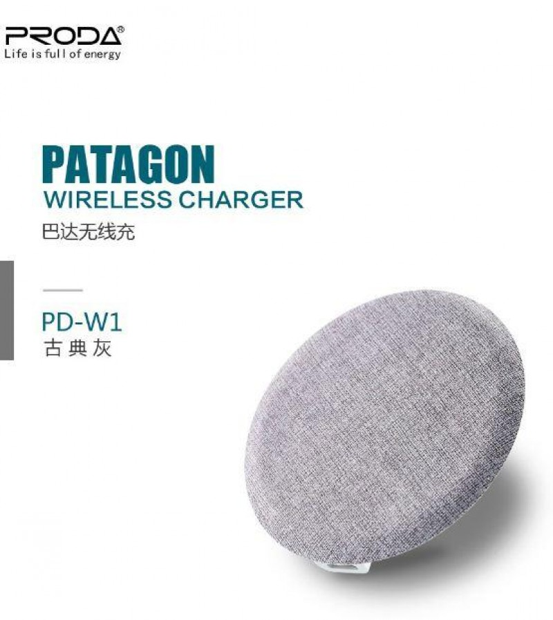 Charger REMAX PRODA PD-W1 Patagon Wireless Abu-abu 40001048