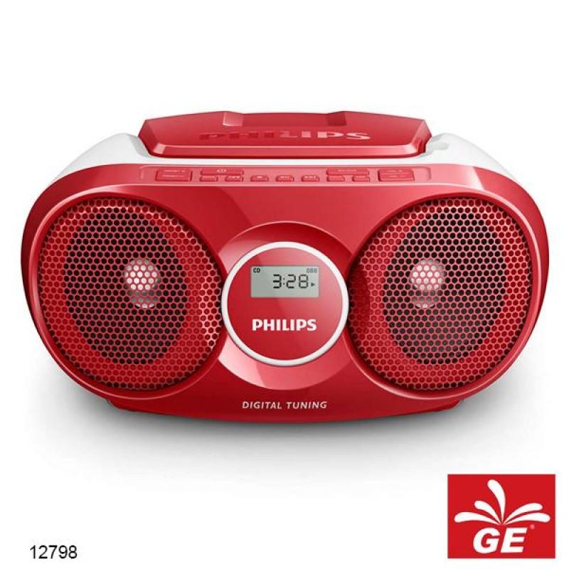 PHILIPS AZ215 MERAH SOUND MACHINE PEMUTAR CD/FM RADIO MODEL BARU